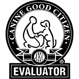 AKC Canine Good Citizen Evaluator.