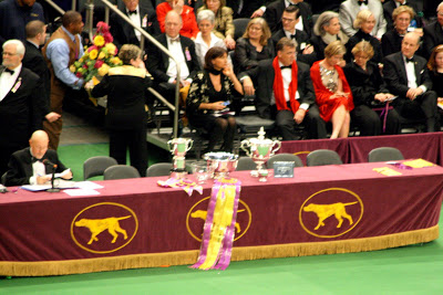 The ribbon and trophies for the winner.